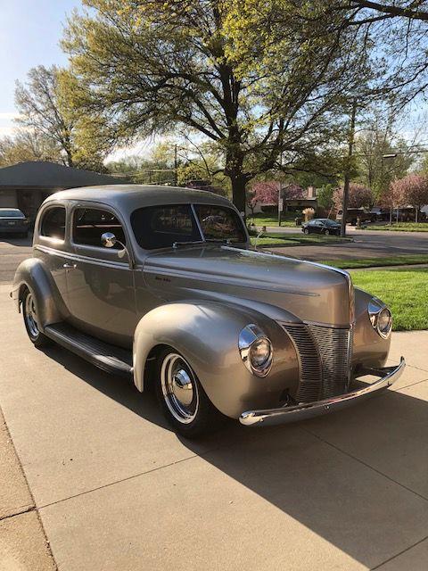 Restored 1940 Ford Deluxe sedan
