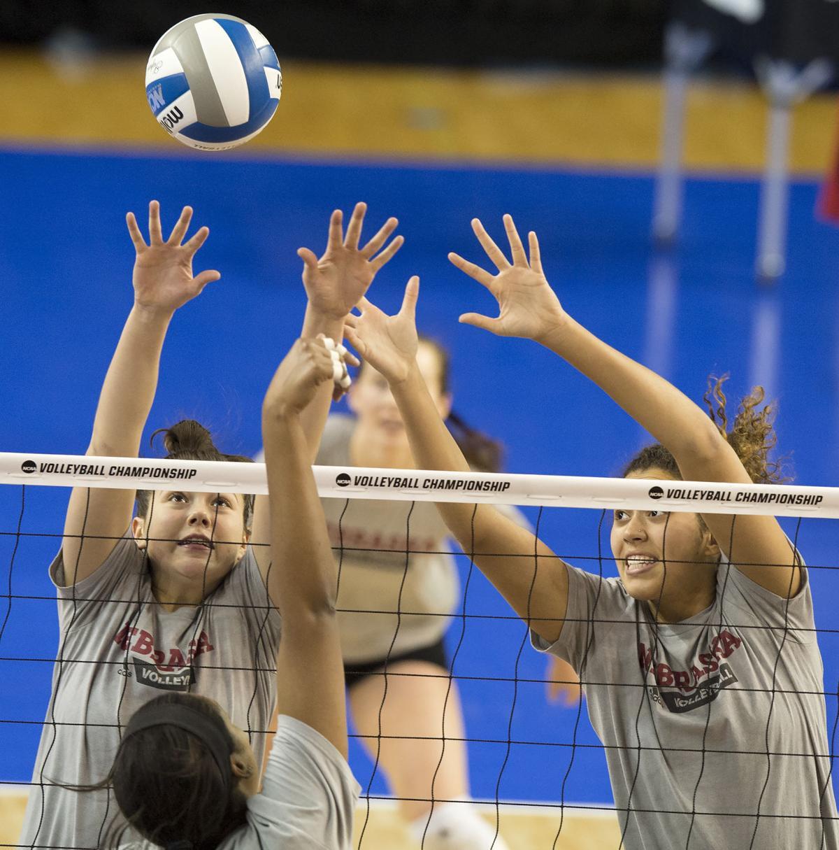 NCAA Volleyball Tournament practice - Nebraska, 12/7/17