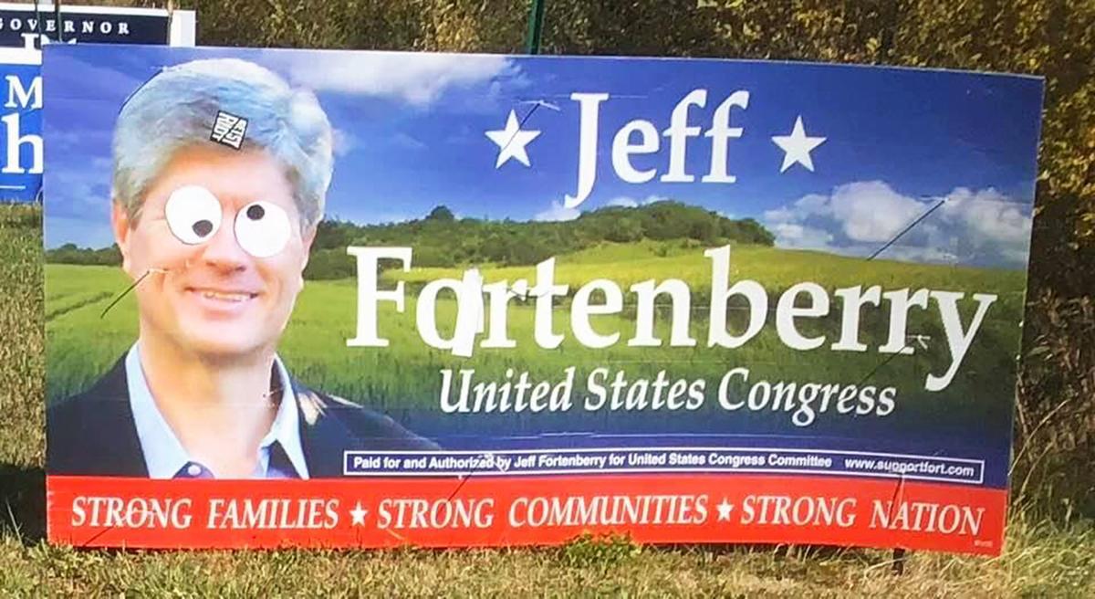 Jeff Fortenberry campaign sign vandalism