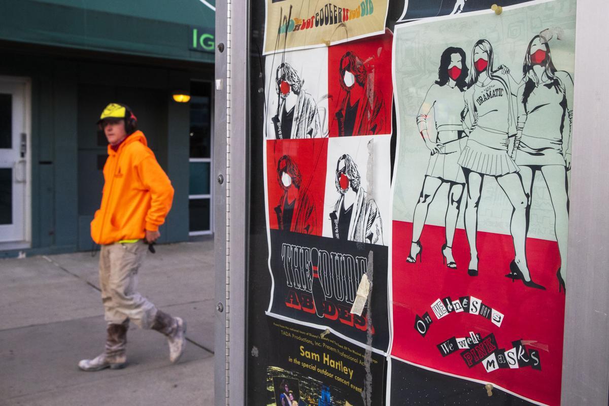Downtown mask art