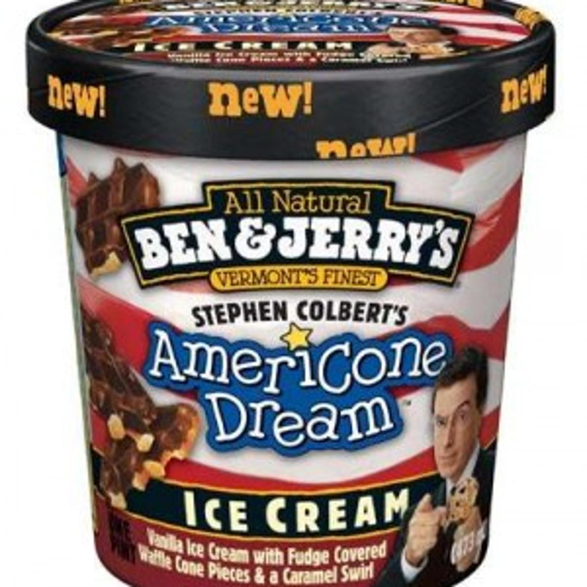 Ben Jerry S Names New Flavor For Stephen Colbert Games Journalstar Com Just because it had colbert's face on it, and i wouldn't care if i liked the ice cream flavor or not. flavor for stephen colbert