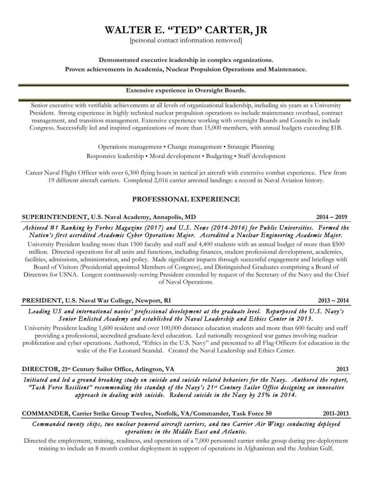 PDF: Review Ted Carter's resume