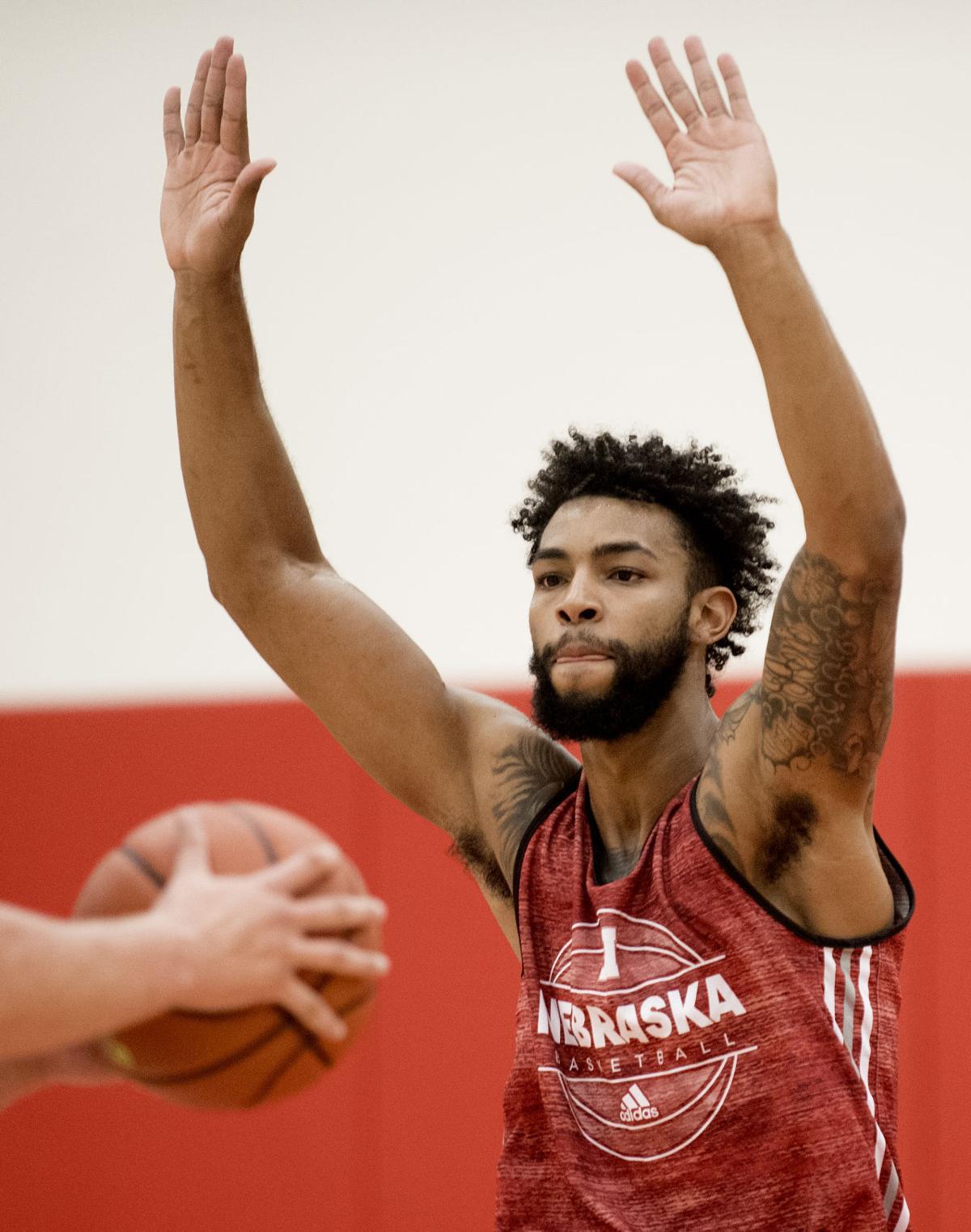 Nebraska men's basketball practice, 10/3/17