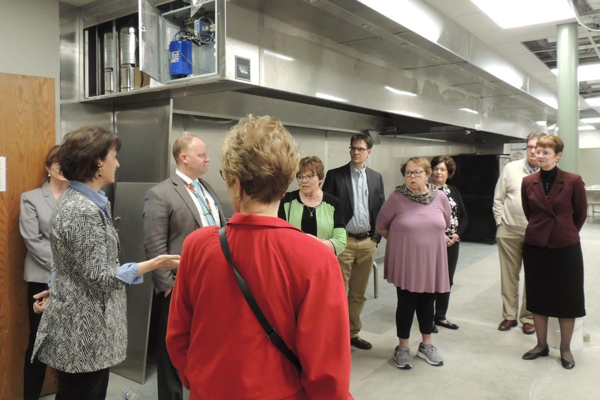 Group tour of Healthy Access Food Kitchen