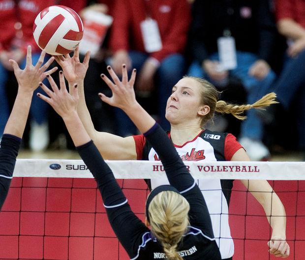 NU volleyball team rallies to beat Northwestern ...