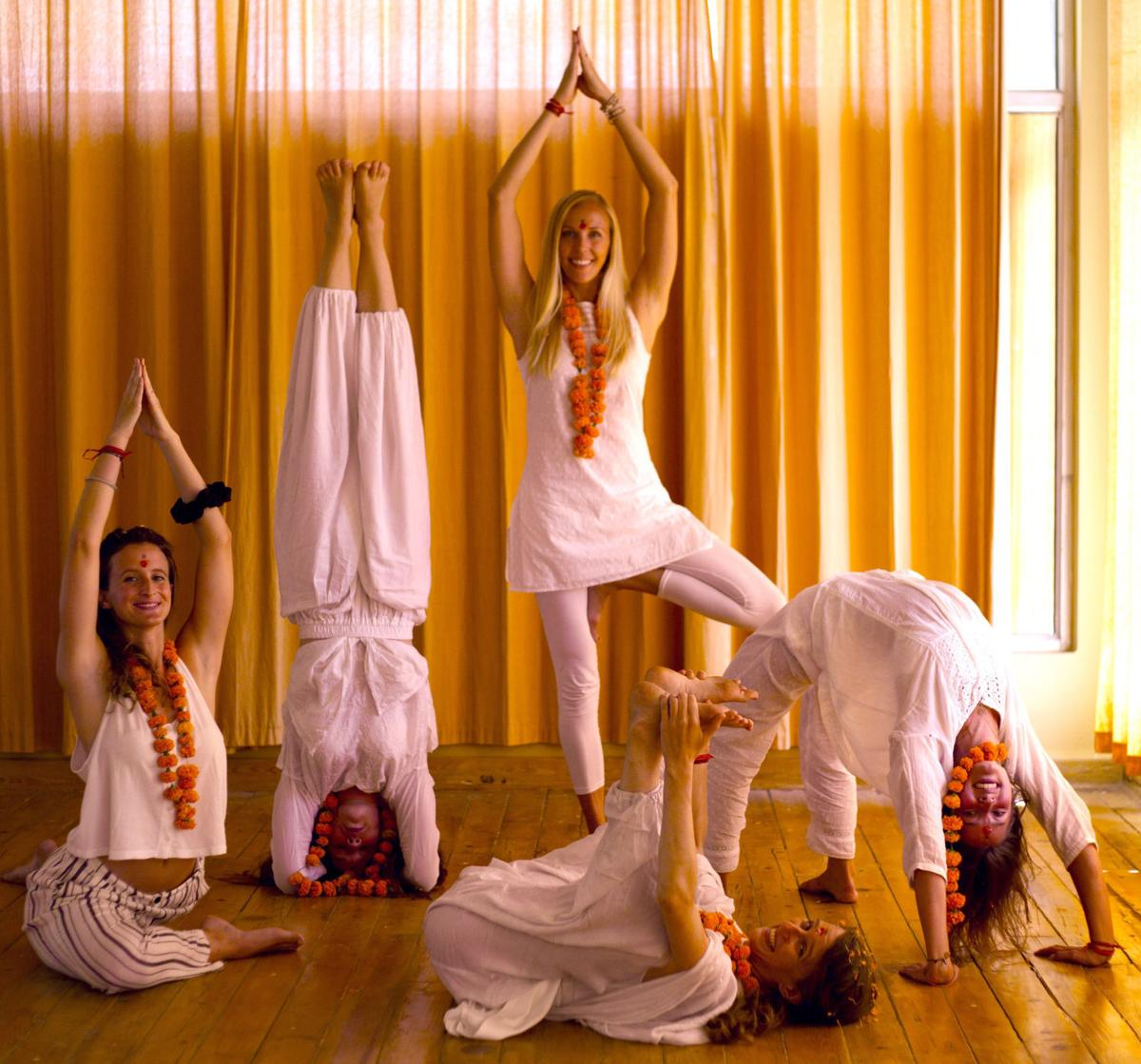 Regina Busse and yoga classmates