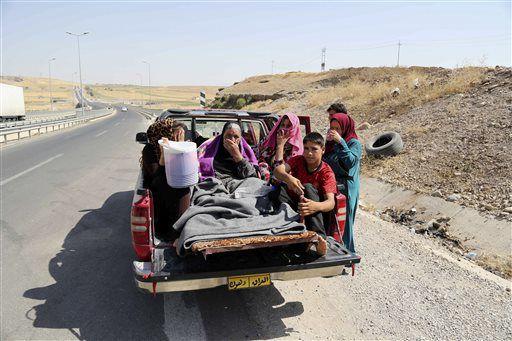 Fleeing Yazidis