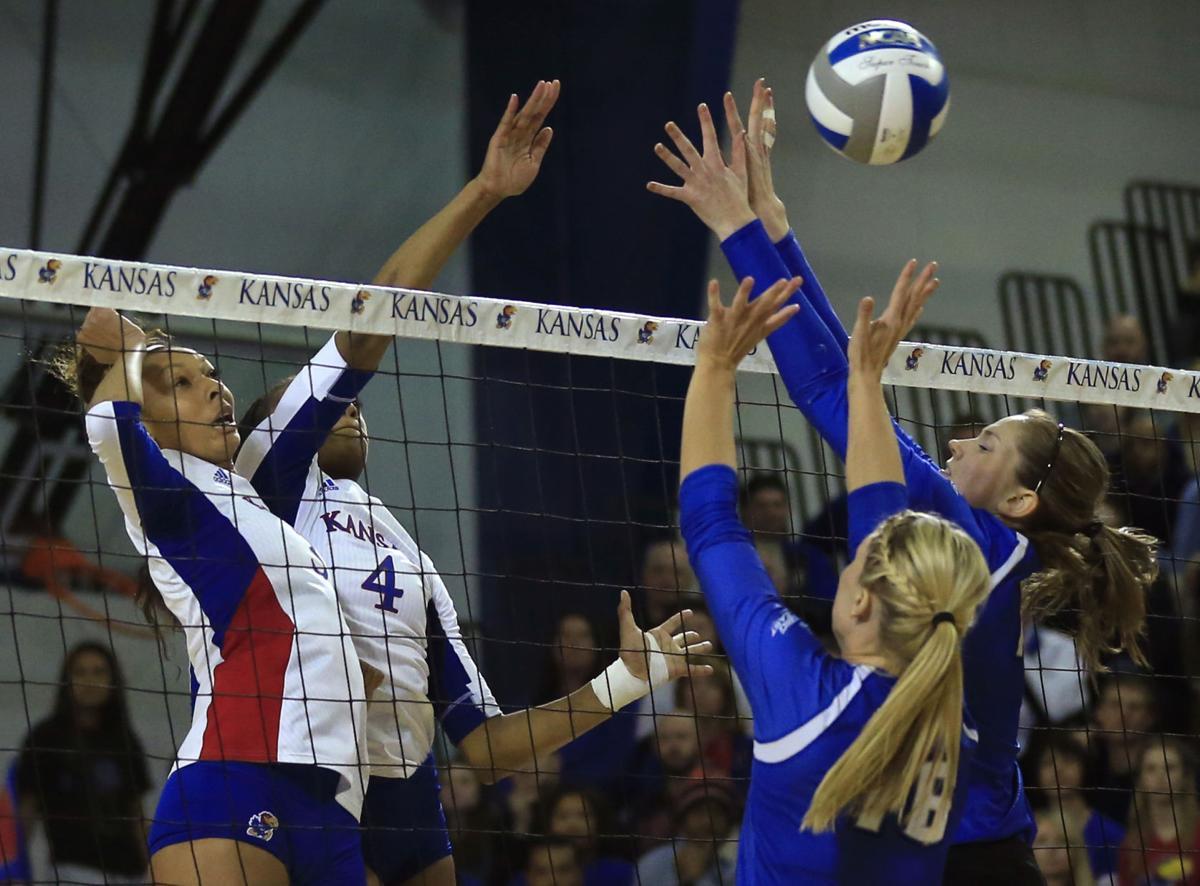 NCAA Creighton Kansas Volleyball