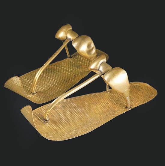 King Tut golden sandals
