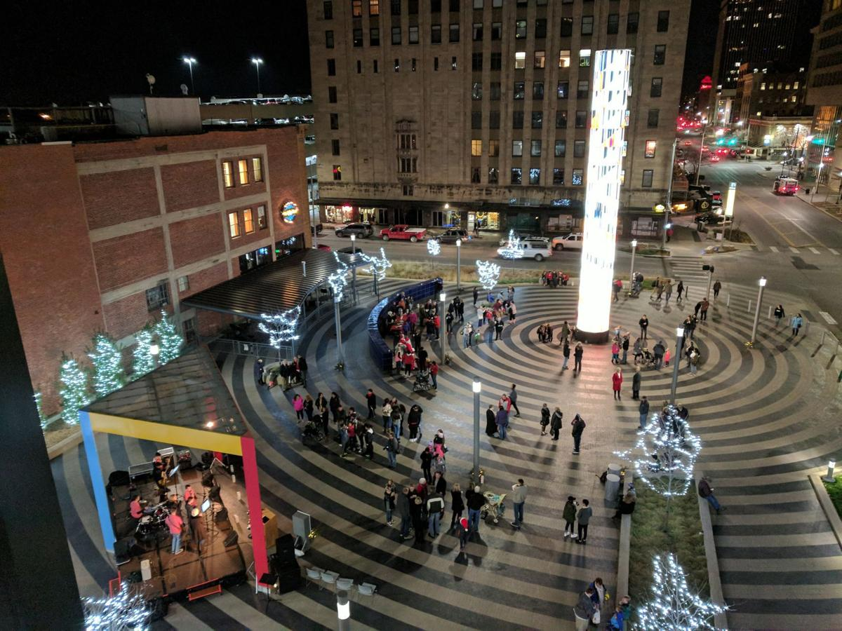 Winter Lights event at Tower Square