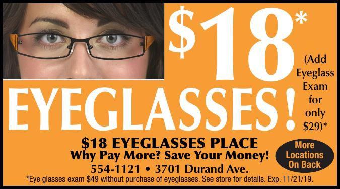 $18 eye glasses