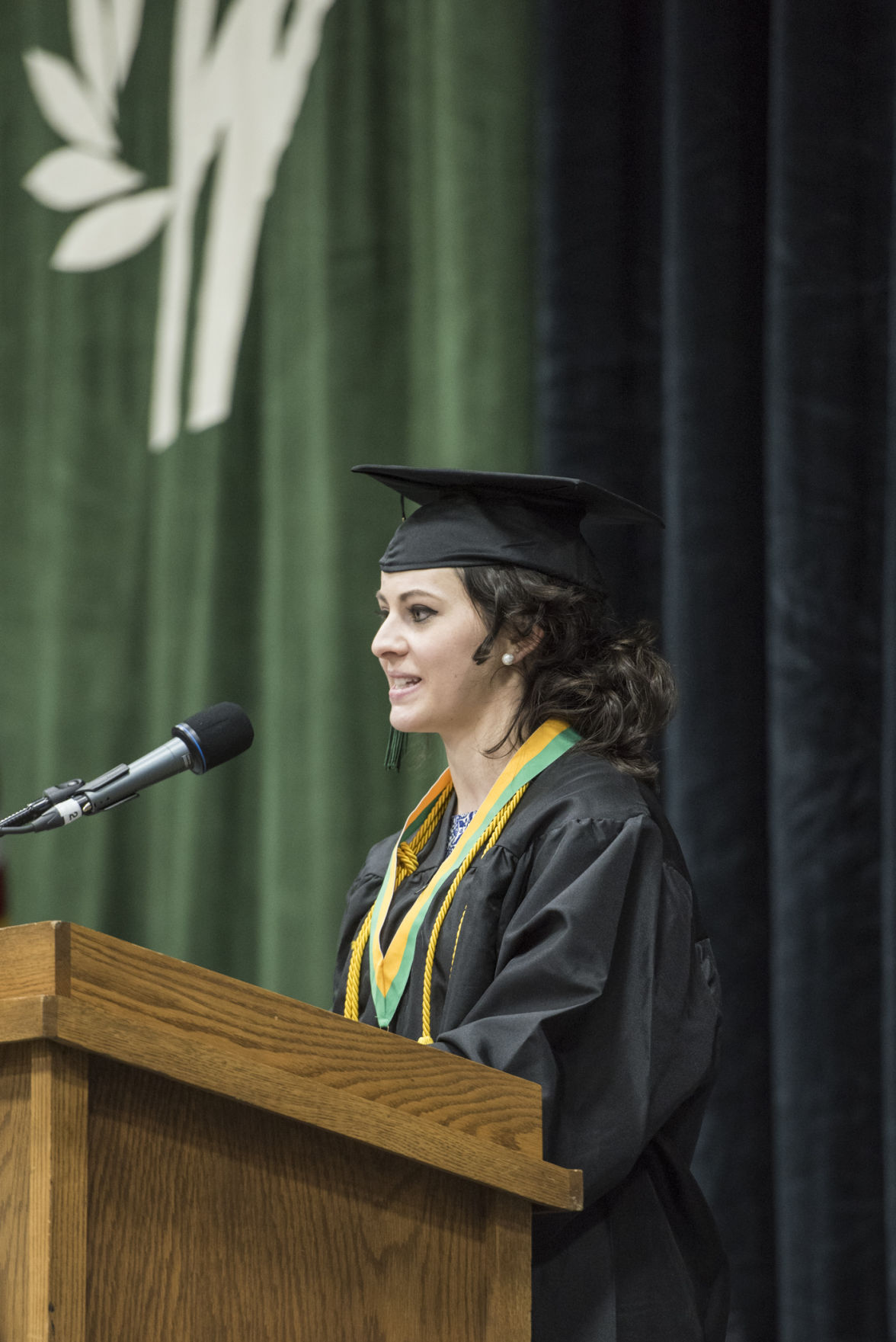 Kristin Crowe at UW-Parkside Graduation