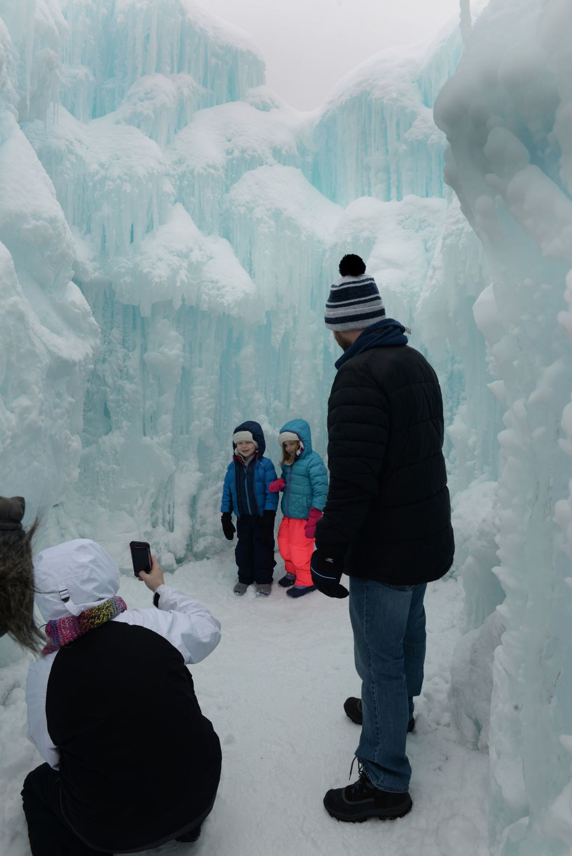 Ice castle Chicago family