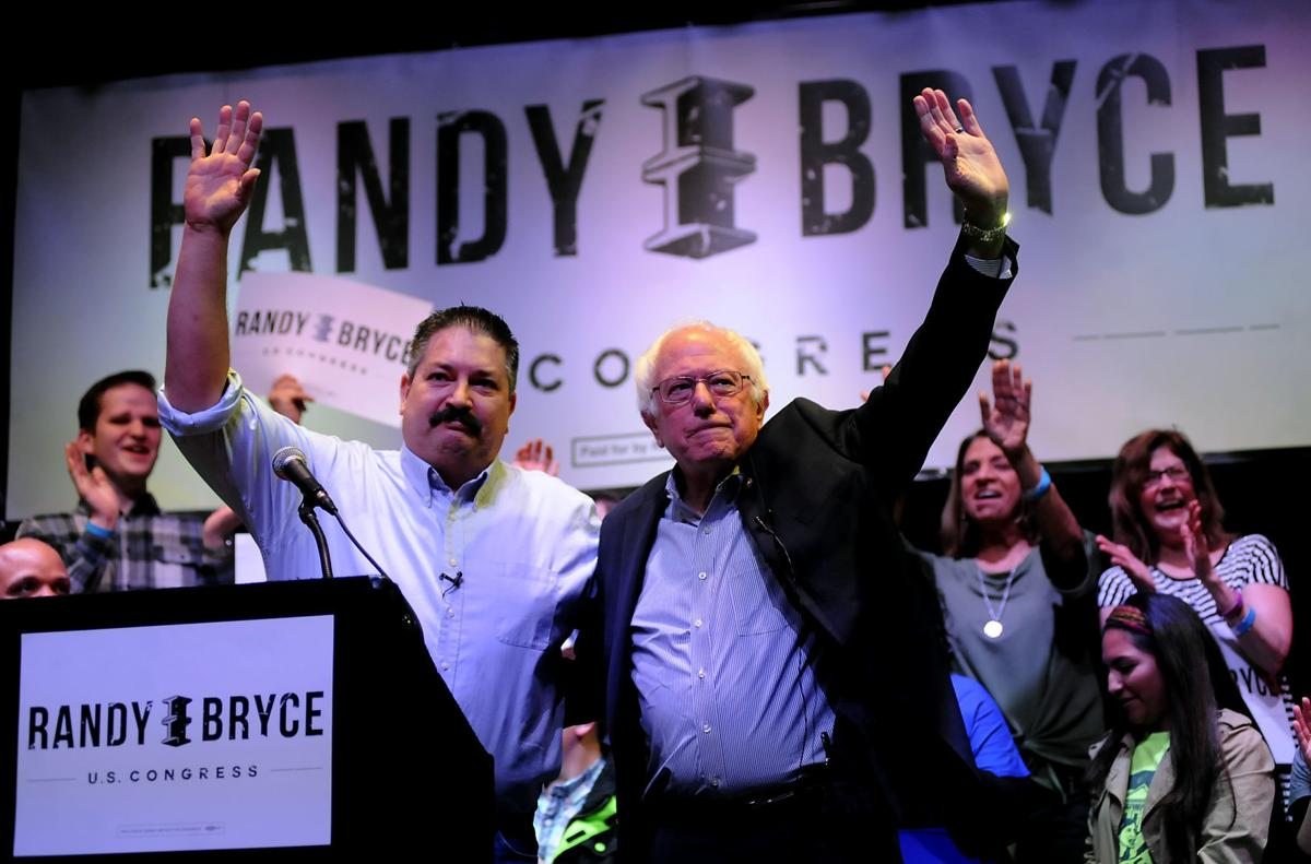 Randy Bryce and Bernie Sanders