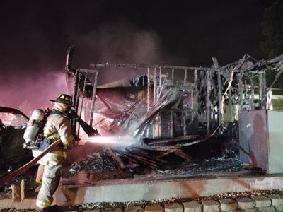 Caledonia garage fire