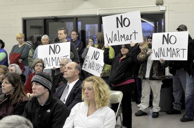 "Caledonia ""No Walmart"" signs in 2011"