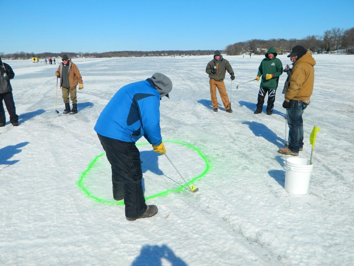 Winter ice golf photo