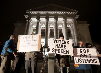 Protesters target GOP lame-duck session