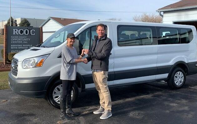 Patrick Christensen donating the van to the Hands of Opportunity Center