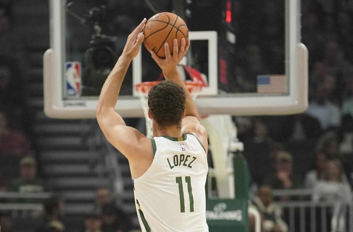 Bucks Big Shot Brook Basketball. Milwaukee Bucks center Brook Lopez ... ef09e129c