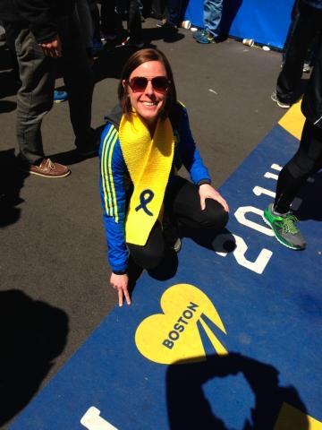 Michelle Zerzanek, Boston Marathon
