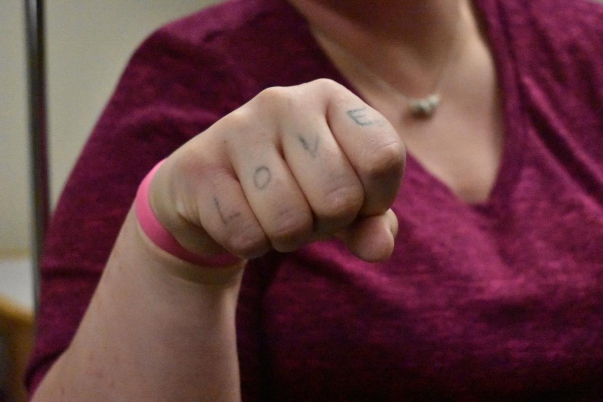 'Love' tattoo
