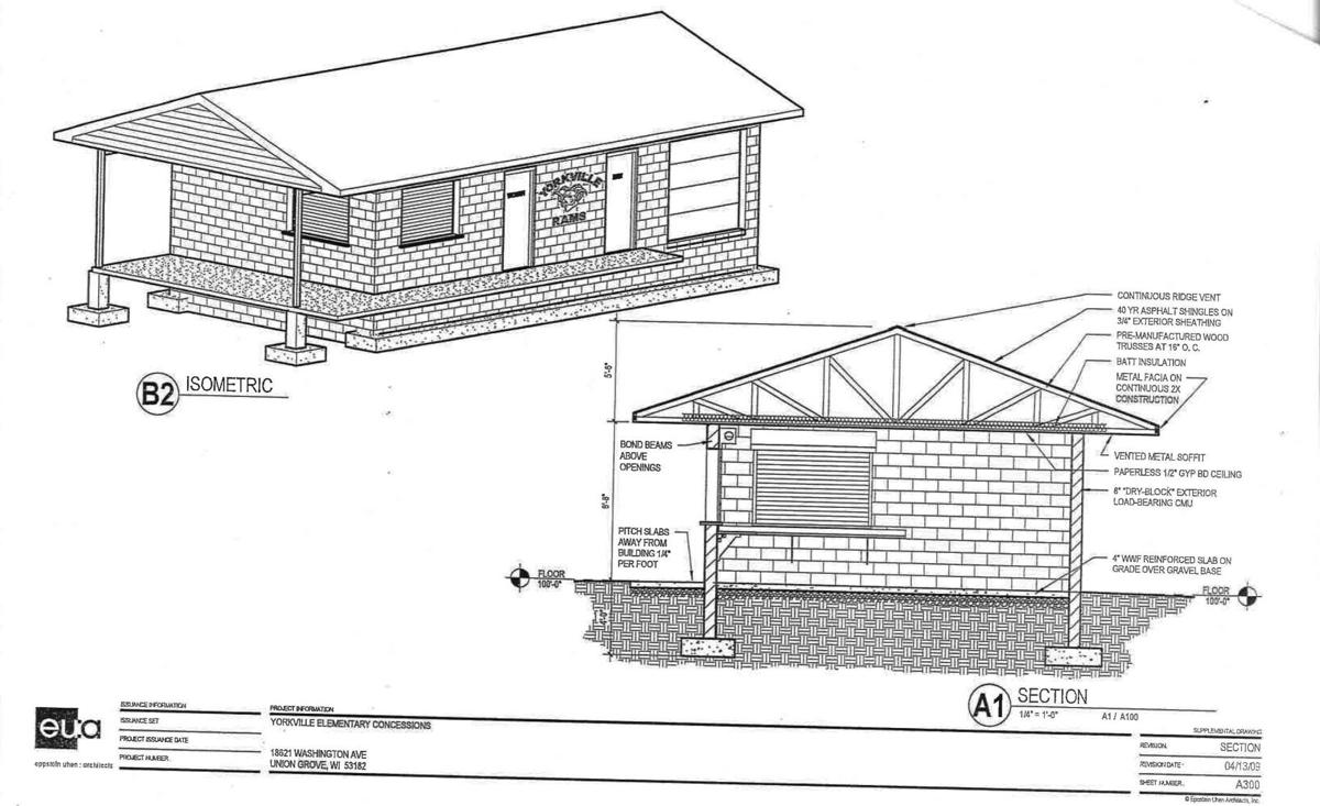 Yorkville Elementary School concession stand rendering