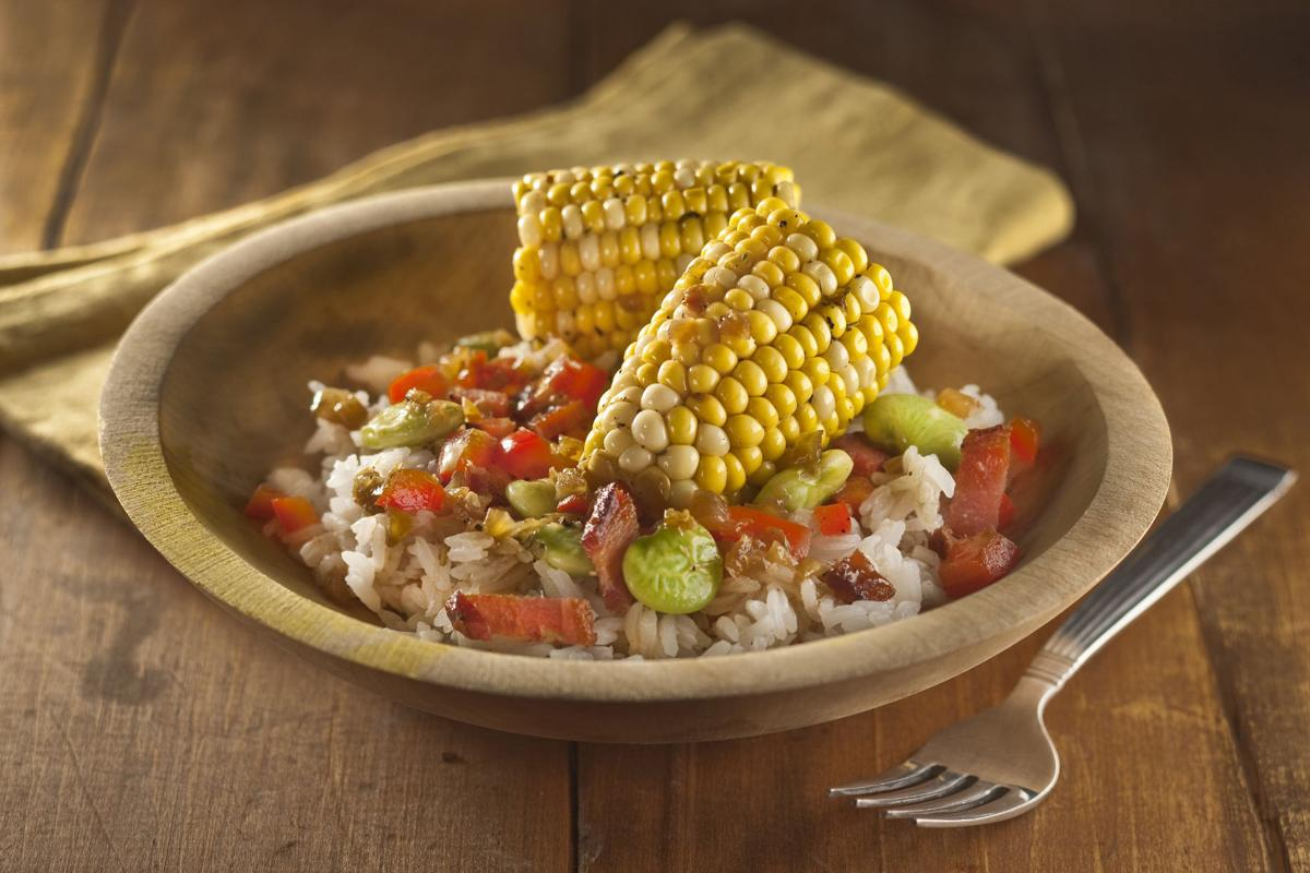 Corn and bacon succotash
