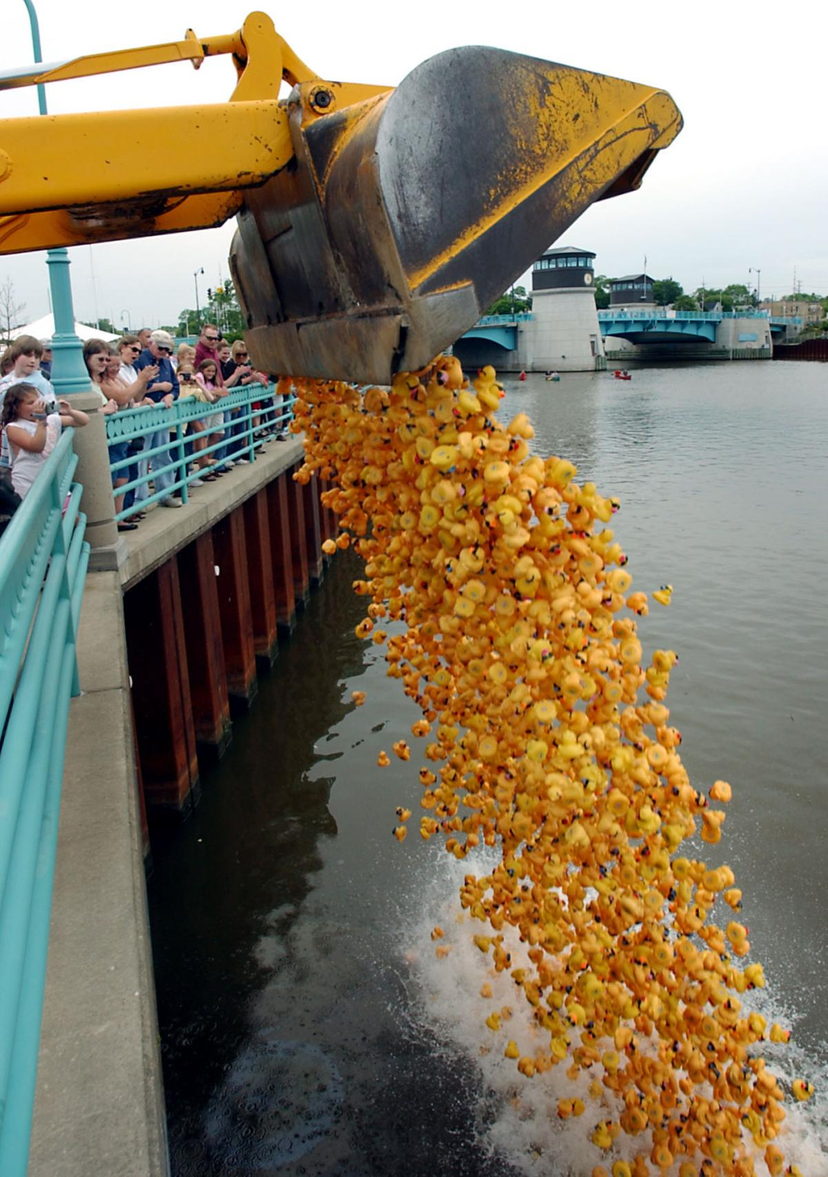 Off to the duck race, rubber duck derby comes to Racine | Local News ...