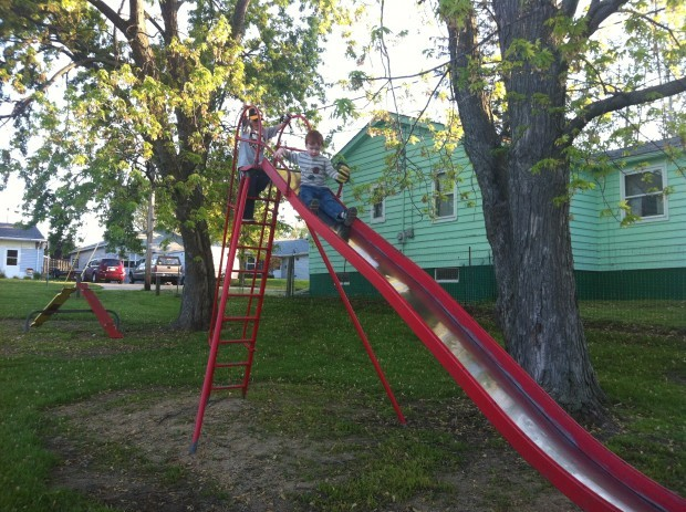 The End Of An Era For Union Grove S Tall Metal Slides