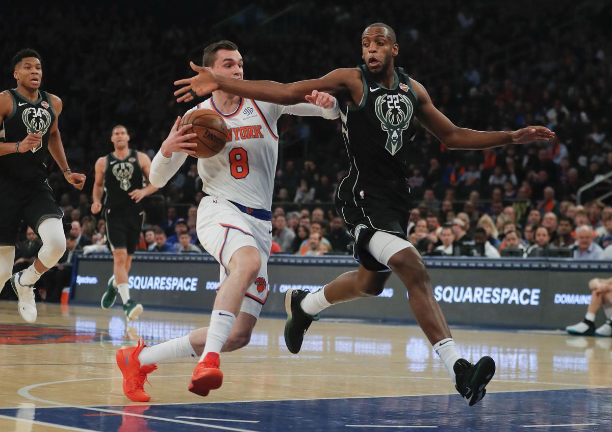Bucks Knicks Basketball