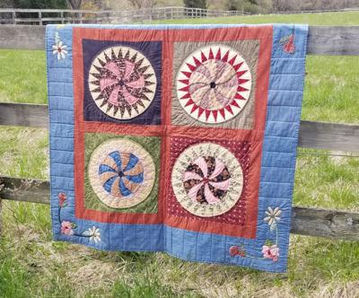 Wagon Wheel quilt by Pat Buremiester