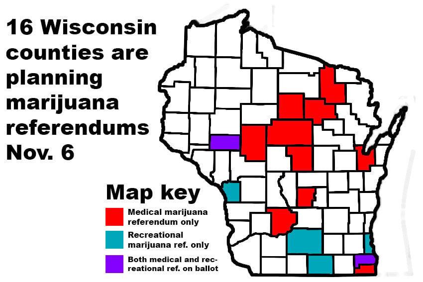 Wisconsin's upcoming marijuana referendums