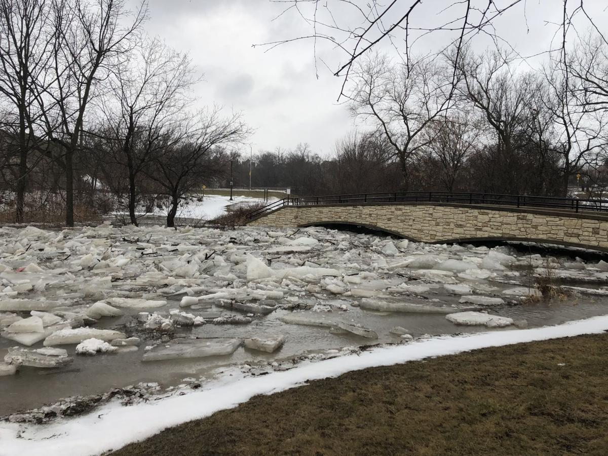 Ice floes in the Root River