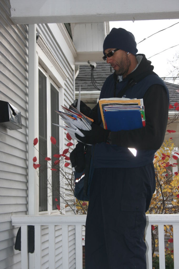 Ready to deliver mail to Santa