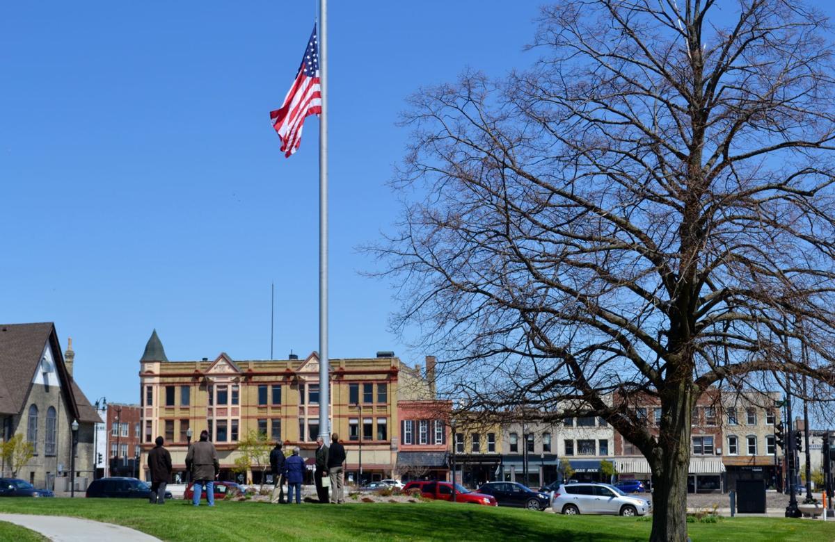 Racine County Courthouse flag