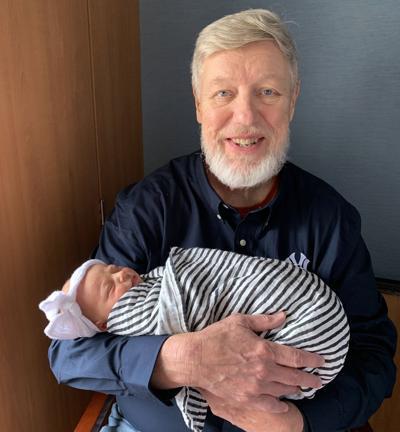 Patrick T. Reardon and with granddaughter Emma Patrick Reardon.