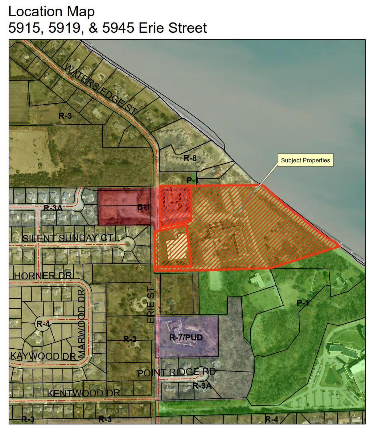 Water's Edge Condominium Development location