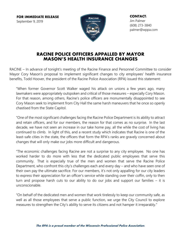 Police Association statement