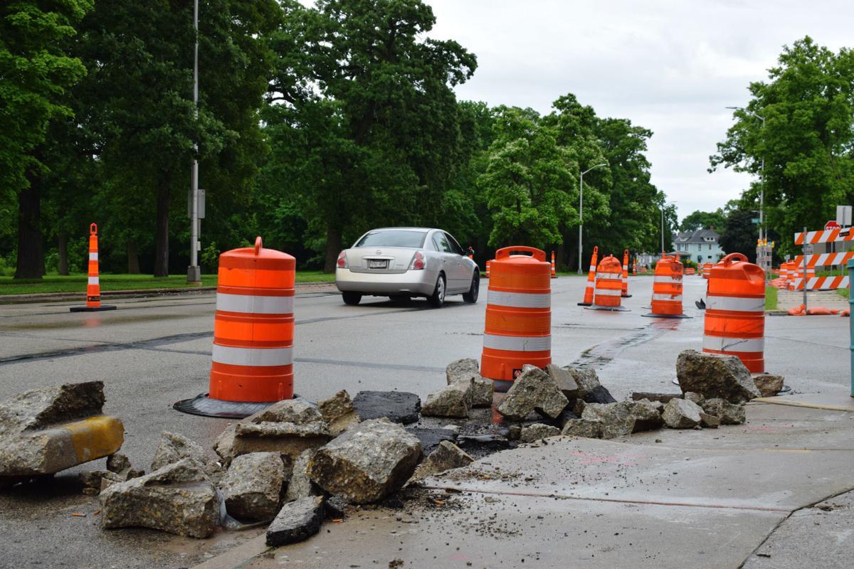 Washington Avenue (Highway 20) construction