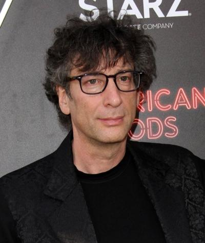 """Author Neil Gaiman at the premiere of the TV adaptation of """"American Gods,"""" on April 20, 2017, at The Cinerama Dome Theatre in Los Angeles."""