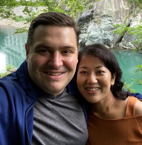 John Weyers and Ayako Suzuki
