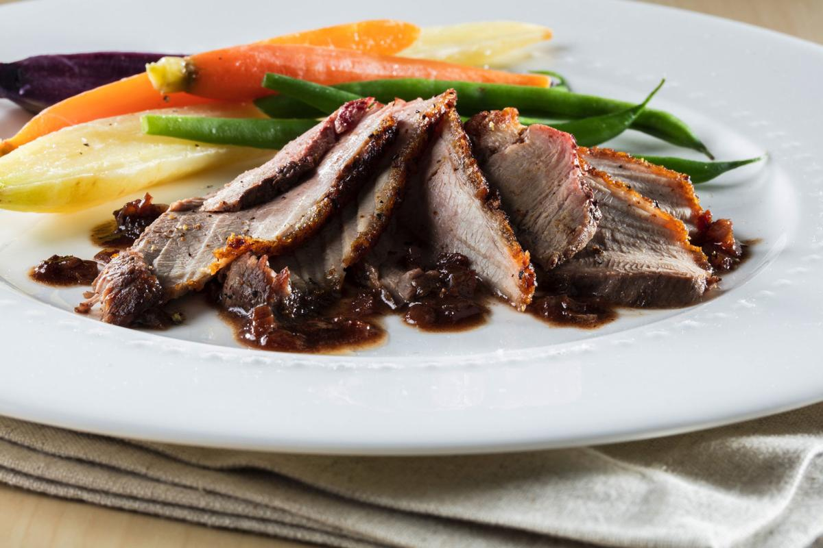 Duck in butter and wine sauce