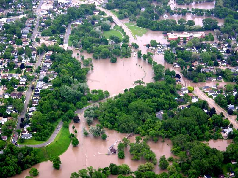 Racine Horlick Park flooded