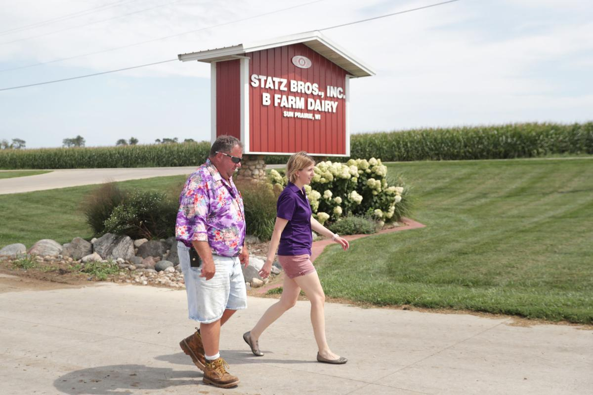 Joe Statz and Amanda Jolma at Statz Bros. Farm