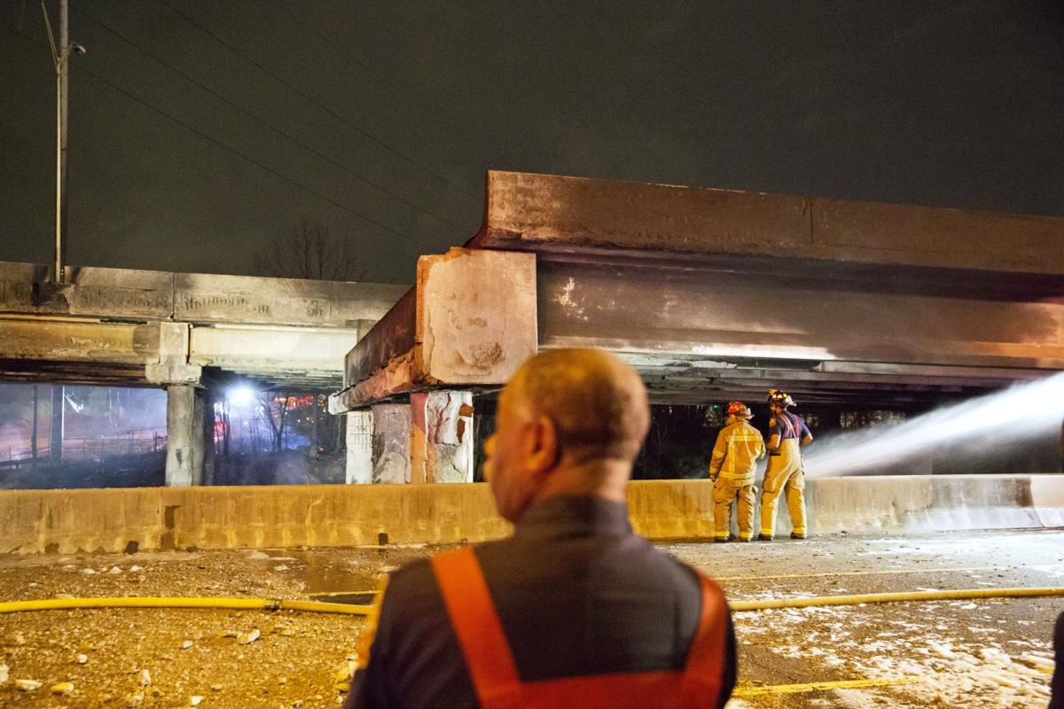 Overpass Collapse Fire