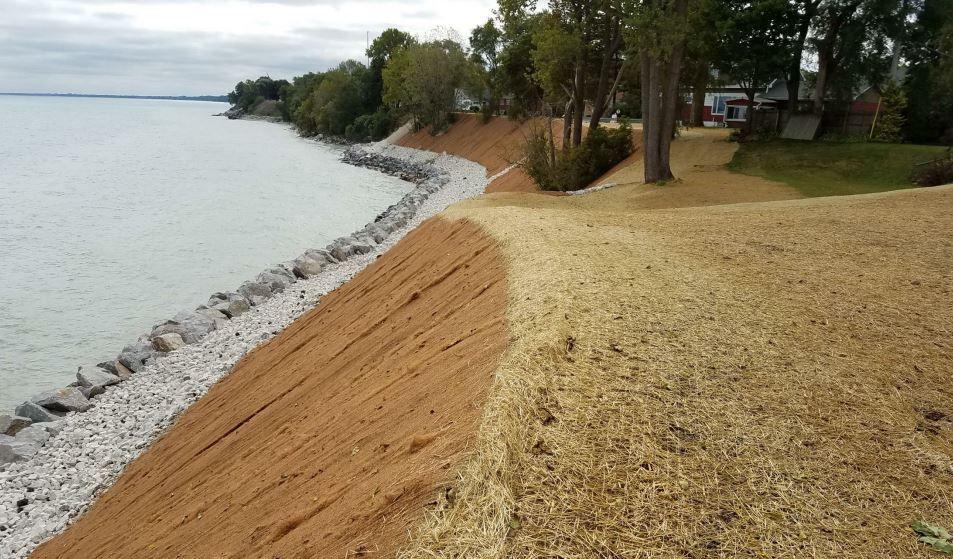 Lake bluff erosion