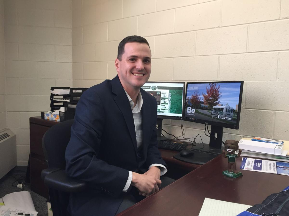 Andrew Gavin, Parkside AD, in his office