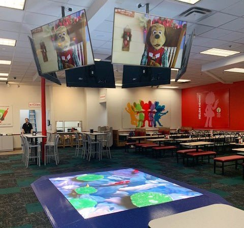 Chuck E. Cheese's redesigned dance floor