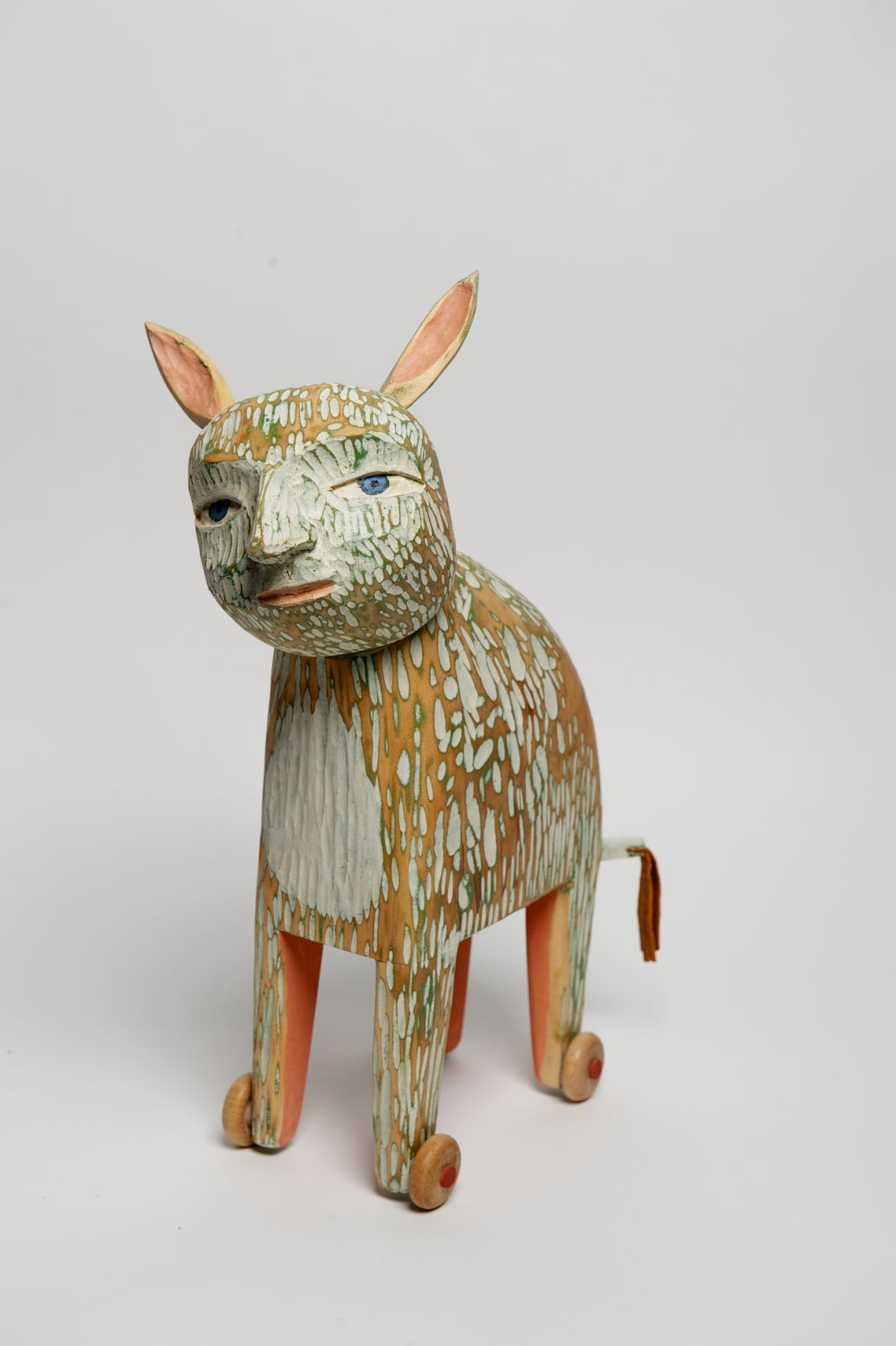Wood sculpture by Amy Arnold and Kelsey Sauber Olds